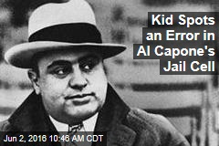 Kid Spots an Error in Al Capone's Jail Cell