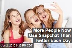 More People Now Use Snapchat Than Twitter Each Day