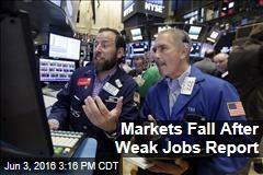 Markets Fall After Weak Jobs Report