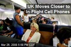 UK Moves Closer to In-Flight Cell Phones