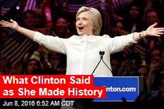 Clinton: We've Reached a Milestone