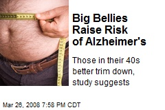 Big Bellies Raise Risk of Alzheimer's
