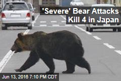 'Severe' Bear Attacks Kill 4 in Japan