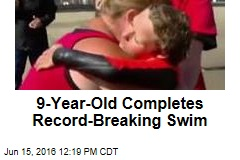9-Year-Old Completes Record-Breaking Swim