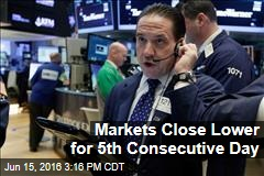 Markets Close Lower for 5th Consecutive Day