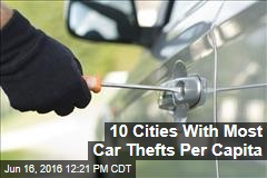 10 Cities With Most Car Thefts Per Capita