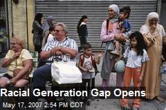 Racial Generation Gap Opens