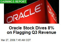 Oracle Stock Dives 8% on Flagging Q3 Revenue