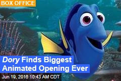 Dory Finds Biggest Animated Opening Ever