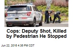 Cops: Deputy Shot, Killed by Pedestrian He Stopped