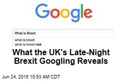 What the UK's Late-Night Brexit Googling Reveals