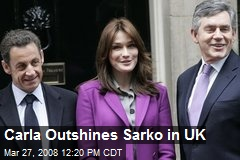 Carla Outshines Sarko in UK