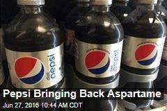 Pepsi Bringing Back Aspartame