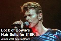 Lock of Bowie Hair Sells for $18K