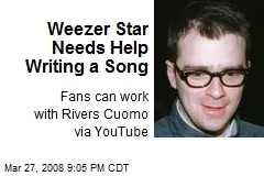 Weezer Star Needs Help Writing a Song