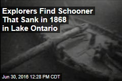 Explorers Find Schooner That Sank in 1868 in Lake Ontario