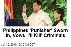 'Punisher' Sworn in as Philippine Prez