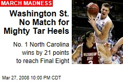 Washington St. No Match for Mighty Tar Heels