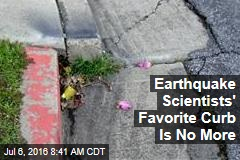 Earthquake Scientists' Favorite Curb Is No More