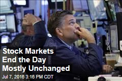 Stock Markets End the Day Basically Unchanged