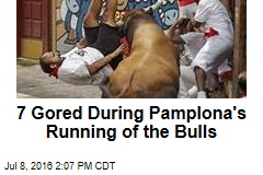 7 Gored During Pamplona's Running of the Bulls