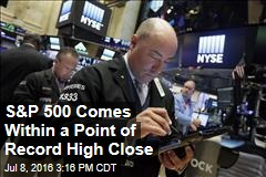 S&P 500 Comes Within a Point of Record High Close