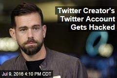 Twitter Creator's Twitter Account Gets Hacked