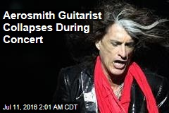 Aerosmith Guitarist Collapses During Concert