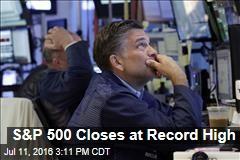 S&P 500 Closes at Record High