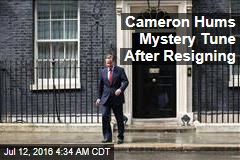 Cameron Hums Mystery Tune After Resigning