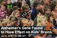 Alzheimer's Gene Found to Have Effect on Kids' Brains