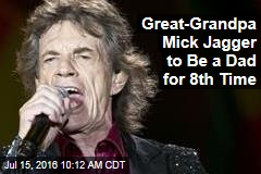 Great-Grandpa Mick Jagger to Be a Dad for 8th Time