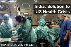 India: Solution to US Health Crisis