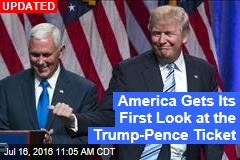 America Gets Its First Look at the Trump-Pence Ticket