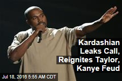 Leaked Call Reignites Taylor, Kanye Feud