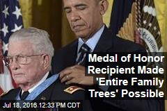 Medal of Honor Recipient Made 'Entire Family Trees' Possible
