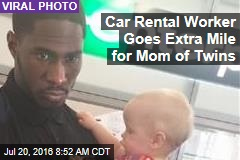 Car Rental Worker Goes Extra Mile for Mom of Twins