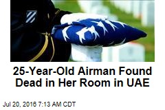 25-Year-Old Air Force Lieutenant Dies in UAE