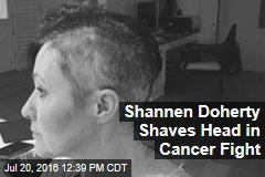 Shannen Doherty Shaves Head in Cancer Fight