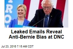 Leaked Emails Reveal Anti-Bernie Bias at DNC