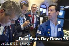 Dow Ends Day Down 78