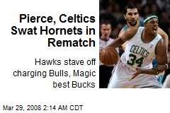 Pierce, Celtics Swat Hornets in Rematch