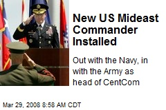 New US Mideast Commander Installed