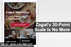 Zagat's 30-Point Scale Is No More