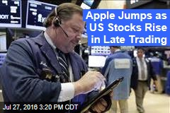 Apple Jumps as US Stocks Rise in Late Trading