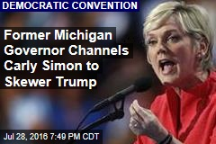 Former Michigan Governor Channels Carly Simon to Skewer Trump
