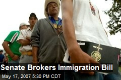 Senate Brokers Immigration Bill