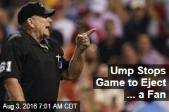 Ump Stops Game to Eject ... a Fan