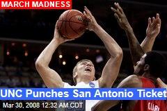 UNC Punches San Antonio Ticket