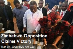 Zimbabwe Opposition Claims Victory